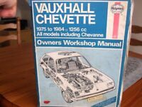 Haynes workshop manual for Vauxhall chevette 1975 to 1984