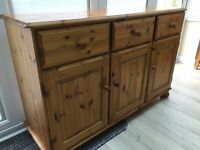 Pine sideboard (drawer / cupboard) unit