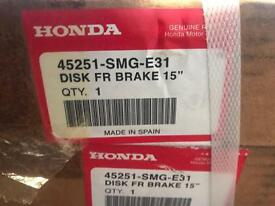 Honda front break discs