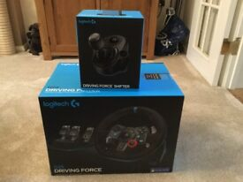 LOGITECH G29 AND SHIFTER FOR PS3 PS4 PC EXCELLENT CONDITION AS NEW 2 YRS WARRANTY GREAT FOR GT SPORT