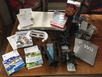 Nintendo Wii Console (in Black), Games and Accessories