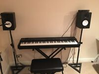 Yamaha CP-40 Stage & Yamaha HS7 Speaker System (Stands / Connections / Stool / Sustain included)