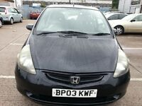 HONDA JAZZ 1.4 SPORT SE 2003 REG 5 DR HATCHBACK BLACK ALLOYS SUNROOF