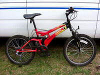 "BOY'S 20"" WHEEL FULL SUSPENSION MOUNTAIN BIKE FULLY SERVICED READY TO GO"