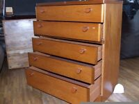 CHEST OF DRAWERS MATCHING SET EXCELLENT CONDITION FREE EDINBURGH DELIVERY