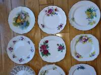 Selection of Vintage China, cups, saucers and side plates