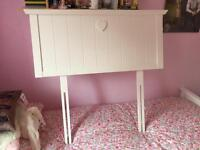 White headboard from next for a single bed