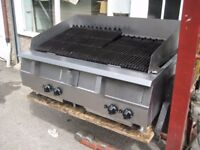 Catering grill commercial Falcon 4 burner Radiant nat gas refurbished.
