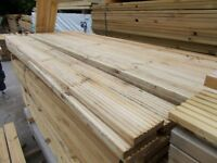 Timber Decking 3.6m long ONLY £6.00 per length. Delivery service Available