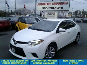 2014 Toyota Corolla Pearl White Camera/btooth/htdsts&GPS