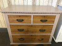 Chest of drawers (vintage) solid wood