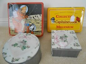 Tonnes of tins! (For storing cakes and baking creations)