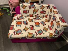 Kids sofa bed with storage