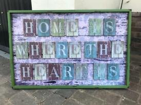 "Large Picture ""Home is where the Heart is"""