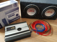 subwoofer and amplifier ALPINE