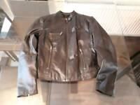 Women's Black Leather Jacket Size 12