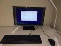 "Compaq 19"" Widesreen Monitor, USB Keyboard and Optical Mouse bundle."
