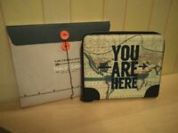 "13"" Tablet Ipad Case You Are Here Cartography NEW"