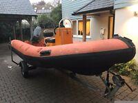 Humber 5m rib boat *price drop* need it gone