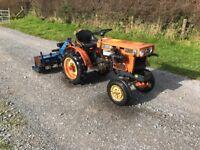 Kubota B5100 compact tractor c/w rotavator no vat