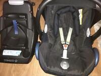 Maxi cosi infant car seat and car base(seat belt)