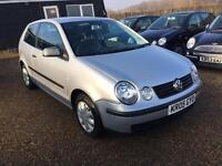 VW POLO 1.2 3DR 2005 IDEAL FIRSR CAR CHEAP INSURANCE FULL SERVICE HISTORY