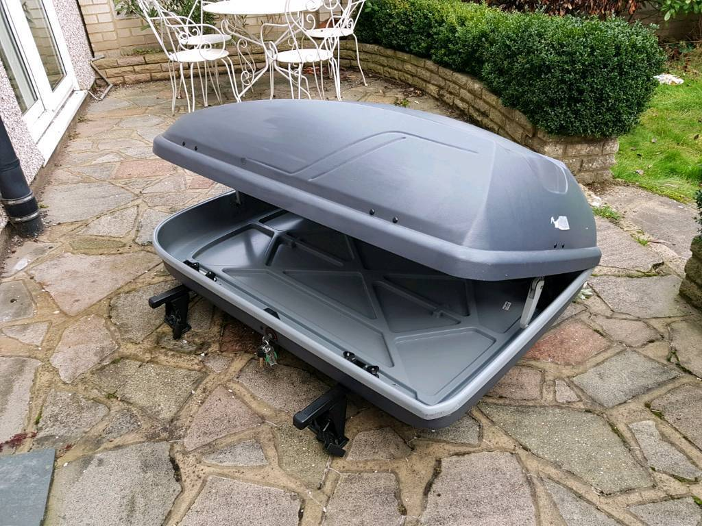 Halfords 250l Roof Box With Roof Bars In Bexley London