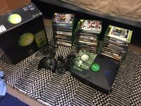 Original Xbox, Black with games