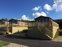 Luxury 2 bed lodge for sale on new development at St Audries Bay with sea views
