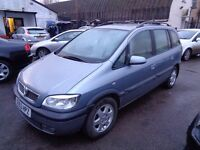 2003 (53) VAUXHALL ZAFIRA ELEGANCE 1.8 FULL MOT 7 SEATER IN SILVER WITH TOW BAR