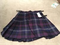 Ladies Deluxe Kilt size 16. New with tags.
