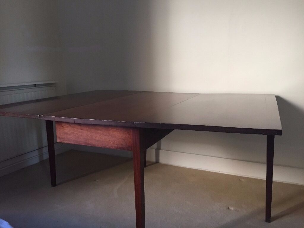 Antique drop leaf Georgian Rectangular dining table