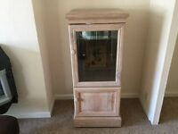 Glass cabinet with bottom cupboard