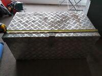 Aluminium site or van box with hasp, 77x34x40