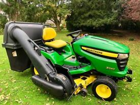 "John Deere X540 Ride on mower - 48"" deck - 3 bag power flow collector"