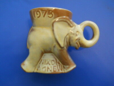 1973 RICHARD NIXON SPIRO AGNEW REPUBLICAN PARTY ELEPHANT MUG, MINT CONDITION