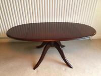 Stag oval drop-leaf coffee table