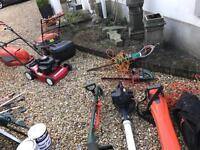 Garden equipment lawnmowers etc