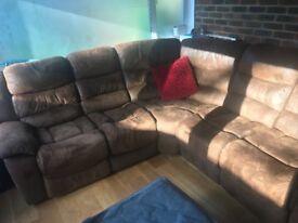 Lovely brown corner sofa for sale