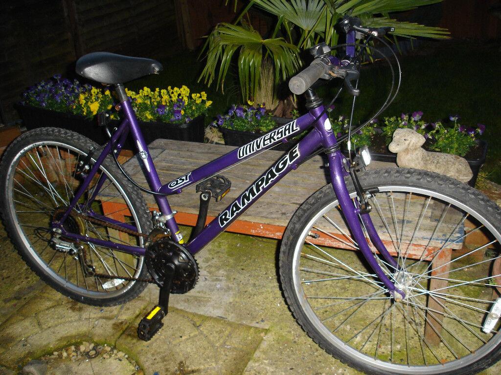 universal rampage ladies mountain bike very good condition
