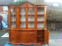 Classic Ex display glass cabinet living room unit. Ideal for larger living rooms on groundfloor.