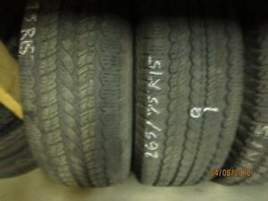 265/75R15 2 ONLY USED MATCHING GENERAL A/S TIRES