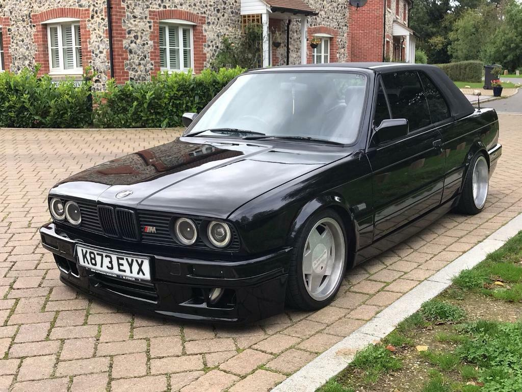 1993 bmw e30 325i turbo convertible mtec modified stanced rwd in high wycombe. Black Bedroom Furniture Sets. Home Design Ideas