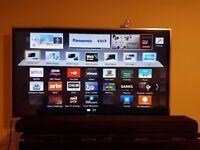 Smart tv 3D Panasonic and sound bar