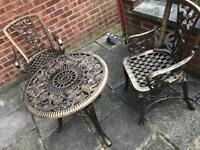 Plastic chair table set