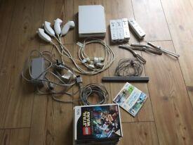 Nintendo Wii Console-Nunchuks & Games