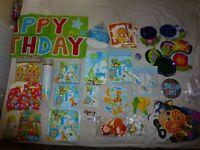 Baby Boy's 1st Birthday Party Decoration Bundle Safari Theme