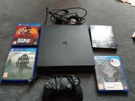 Playstation 4 + controller + games
