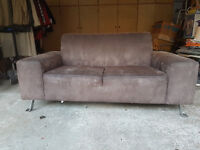 Soft, Faux Suede, Two Seat Sofa