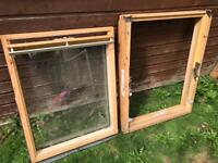 Velux window and frame